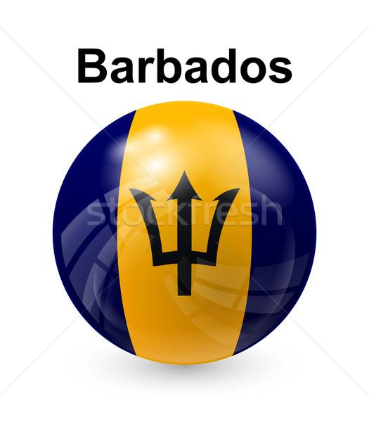 Barbados bandeira oficial botão bola mundo Foto stock © dip