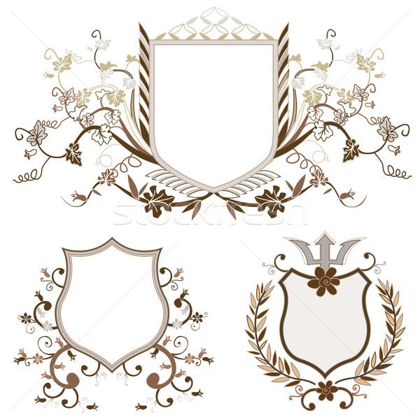 Escudo projeto conjunto formas decoração Foto stock © dip