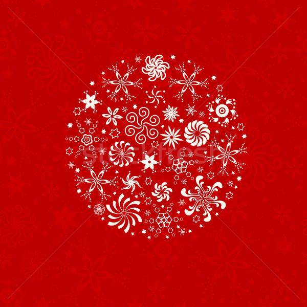 Foto stock: Inverno · padrão · sem · costura · flocos · de · neve · textura · neve