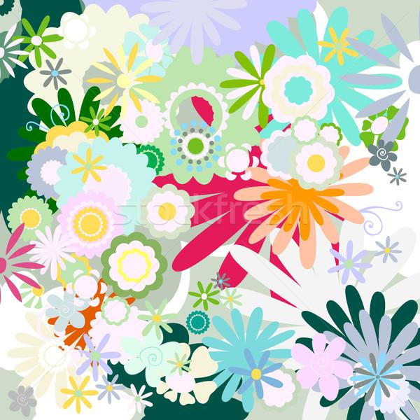 Flor ilustração borboleta natureza quadro verão Foto stock © dip