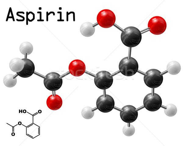 Aszpirin modell terv háttér oktatás gyógyszer Stock fotó © dip