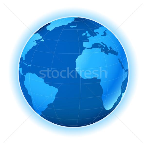 Pianeta mappa pianeta terra illustrazione mondo mondo Foto d'archivio © dip