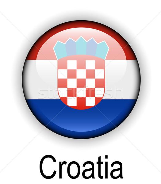 Chorwacja urzędnik banderą projektu świat podpisania Zdjęcia stock © dip
