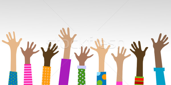 hands diverse togetherness  Stock photo © dip