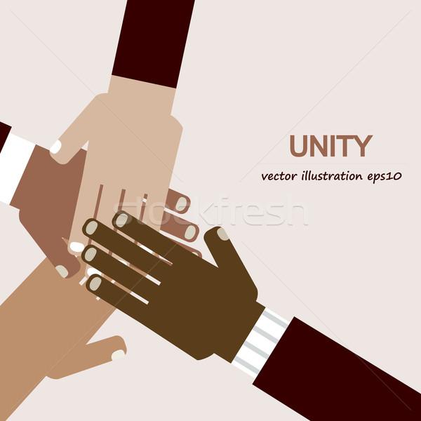 hands diverse unity Stock photo © dip