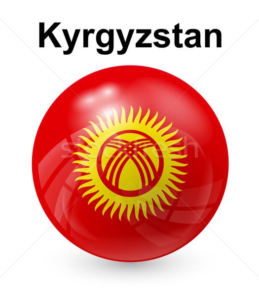 Kirgistan offiziellen Flagge Sonne Design Welt Stock foto © dip