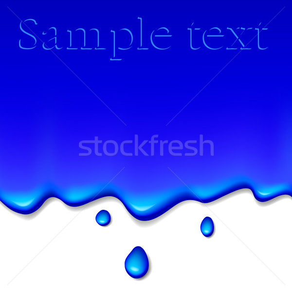 blue paint on white Stock photo © dip