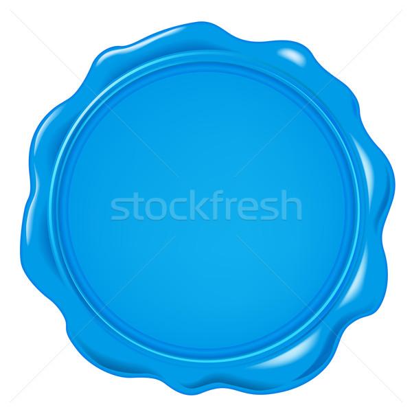 Vecteur cire sceau design fond bleu Photo stock © dip