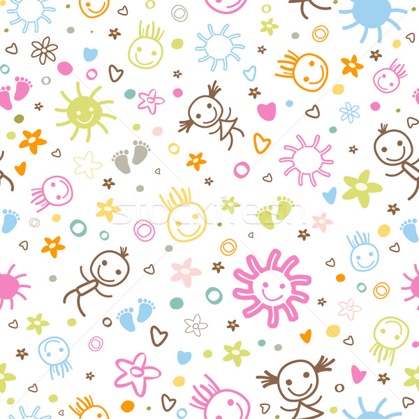 Stock photo: baby seamless pattern