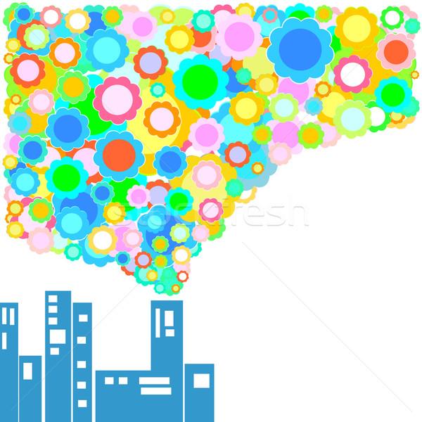 Környezetbarát gyár égbolt épület boldog terv Stock fotó © dip
