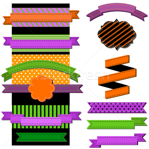 vintage ribbons with Halloween colors vector illustration © Dan ...