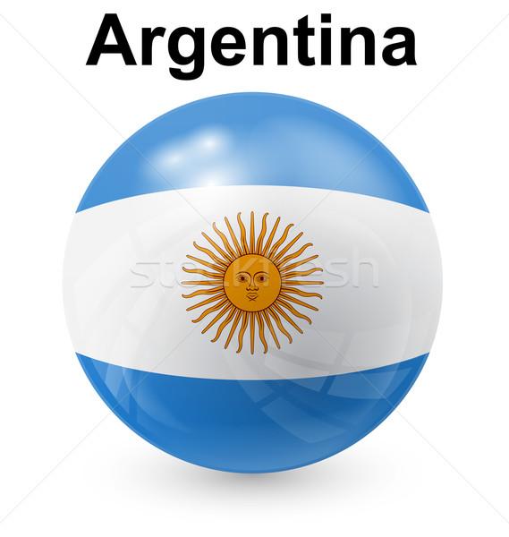 Аргентина мяча флаг официальный кнопки солнце Сток-фото © dip
