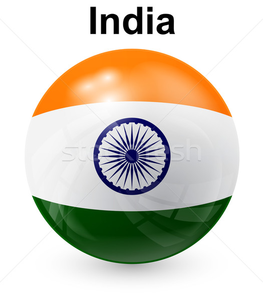 india official state flag Stock photo © dip