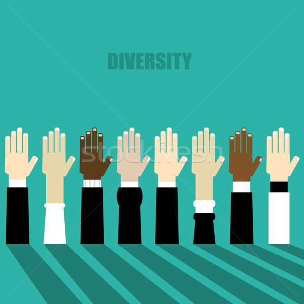 diversity hands raised Stock photo © dip