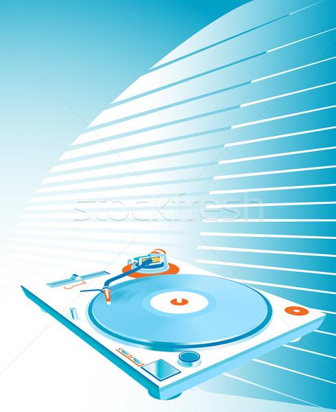 Turntable design musique danse résumé disco Photo stock © dip