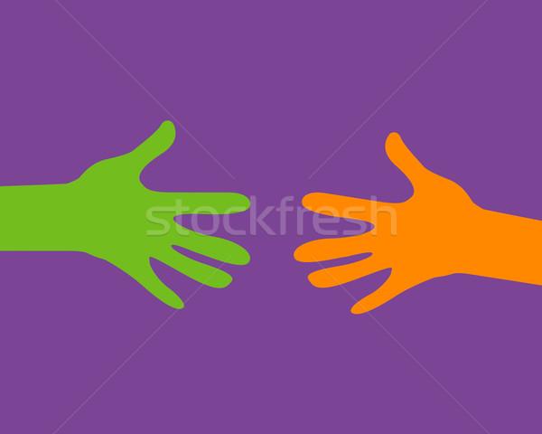 Stok fotoğraf: Eller · dışarı · sevmek · çocuklar · dizayn · arka · plan