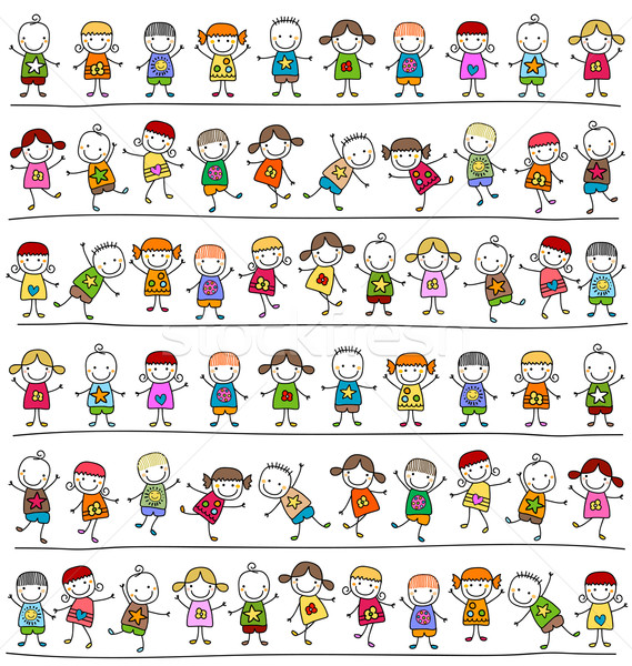kids pattern Stock photo © dip
