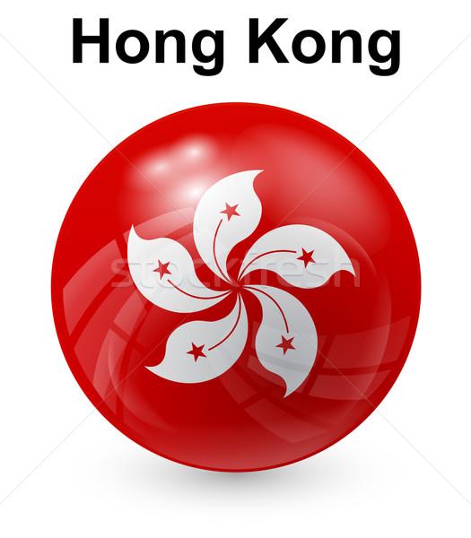 Hongkong offiziellen Flagge Blume Design Welt Stock foto © dip
