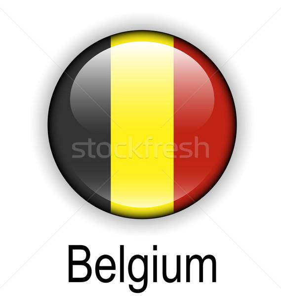 Bélgica bandeira projeto assinar bola preto Foto stock © dip