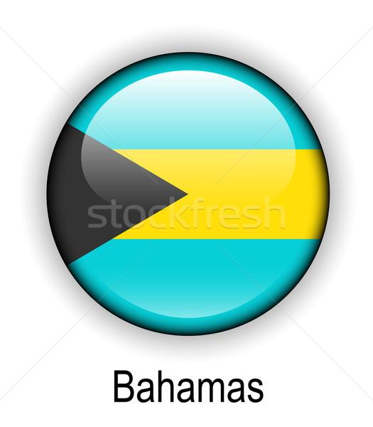 Bahamas Flagge offiziellen Taste Ball Design Stock foto © dip