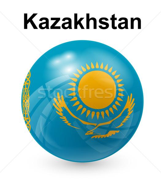 Kazachstan officieel vlag zon ontwerp wereld Stockfoto © dip