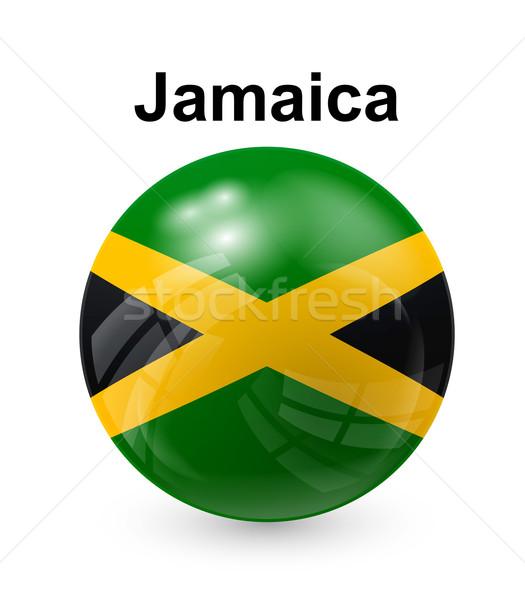 Jamaïque pavillon officielle bouton balle monde Photo stock © dip