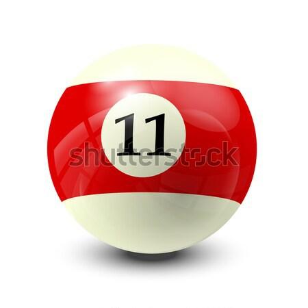 billiard ball 7 Stock photo © dip