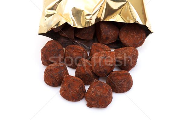 chocolate truffles Stock photo © Discovod