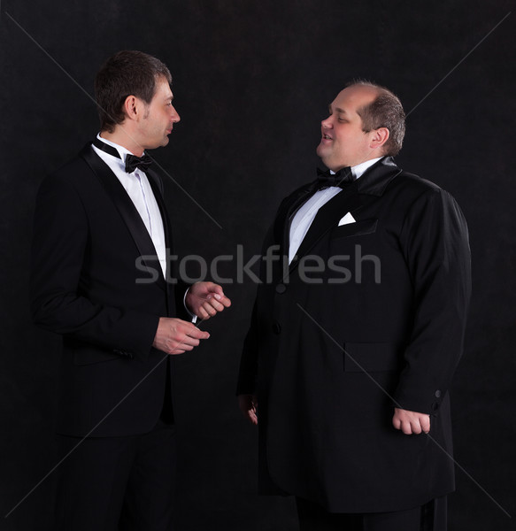 Two stylish businessman in tuxedos Stock photo © Discovod