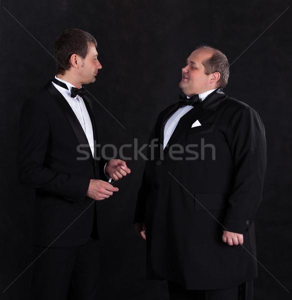 Twee stijlvol zakenman ontwerp pak zwarte Stockfoto © Discovod