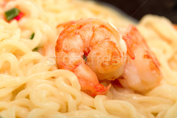 Fried shrimp and noodle soup bowl Stock photo © Discovod
