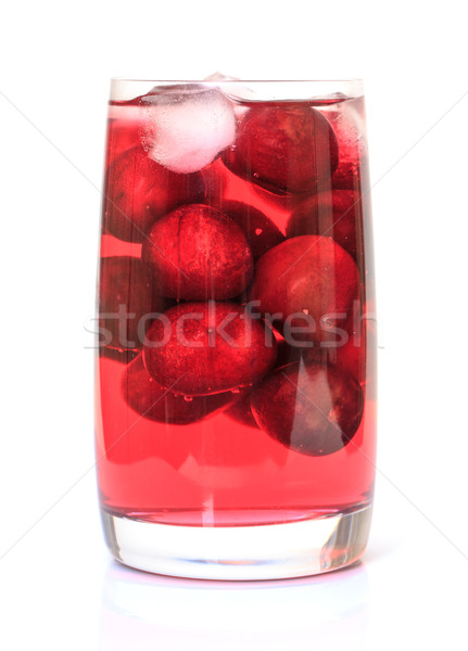 Cherry Compote with Berries in a Glass Stock photo © Discovod