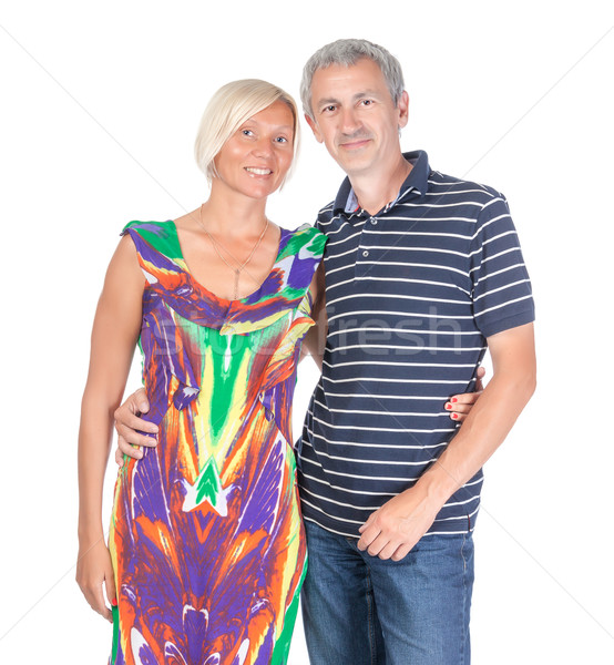 Smiling attractive middle-aged couple Stock photo © Discovod