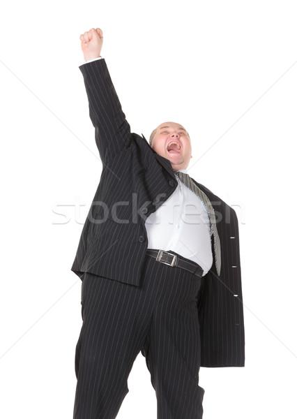 Excesso de peso alegre empresário branco executivo gerente Foto stock © Discovod
