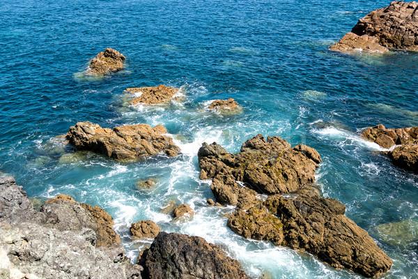 Waves Crashing Against the Rocks Stock photo © Discovod