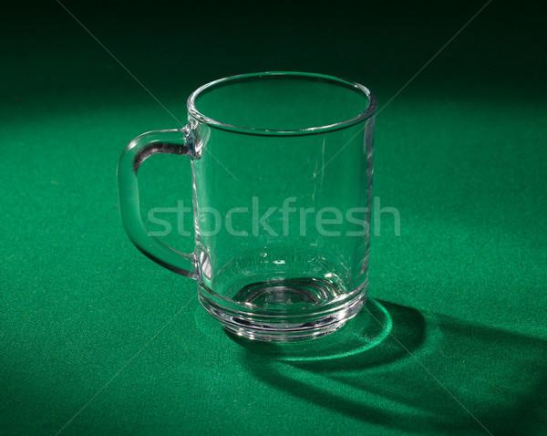 üres üveg főzőpohár zöld háttér Stock fotó © Discovod