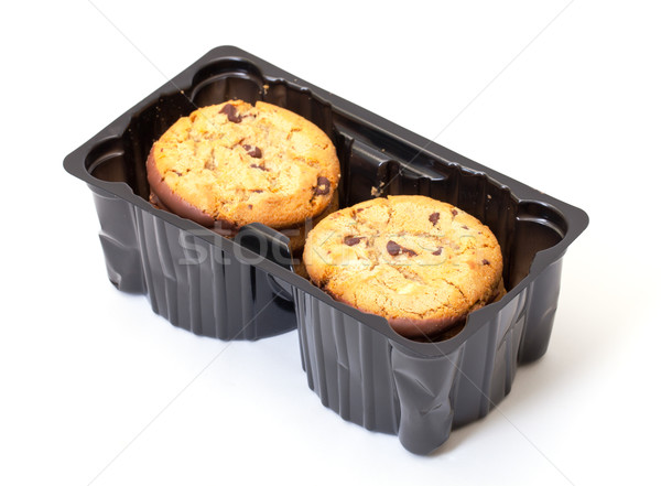 Crispy Chip Biscuits with chocolate Stock photo © Discovod