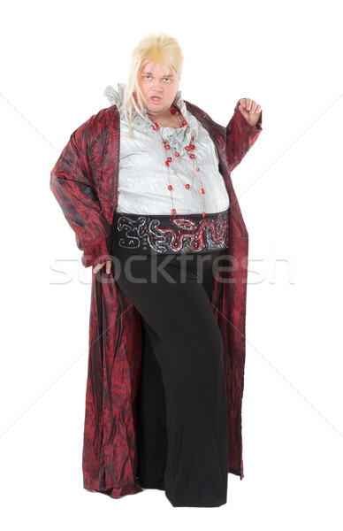 Overweight entertainer or disillusioned drag queen Stock photo © Discovod