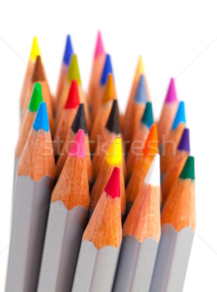 Lápis monte branco fundo Foto stock © Discovod
