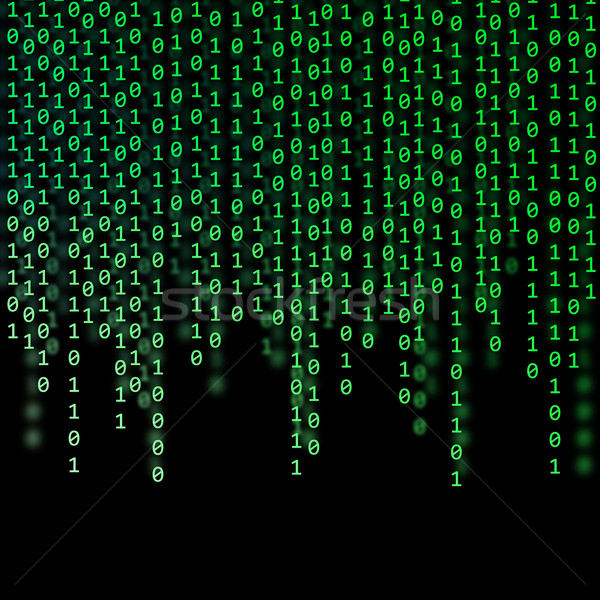 Abstract verde codice binario nero computer internet Foto d'archivio © Discovod