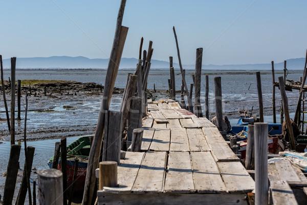古い 桟橋 漁師 村 水 海 ストックフォト © Discovod