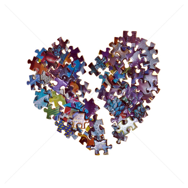 broken heart made from the puzzle Stock photo © Discovod