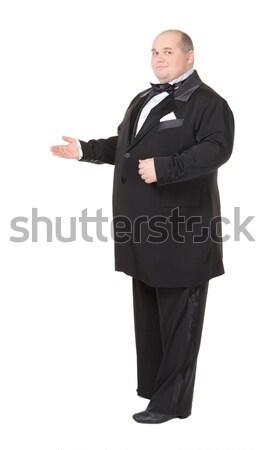 Elegante vet man smoking gelukkig pak Stockfoto © Discovod