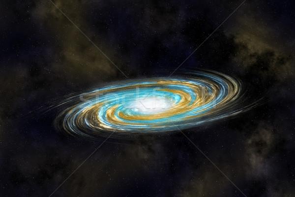 Spirale Galaxie tief Hintergrund Natur Licht Stock foto © Discovod
