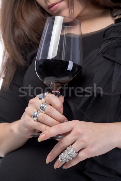 Genç kadın cam kadın parti Stok fotoğraf © Discovod