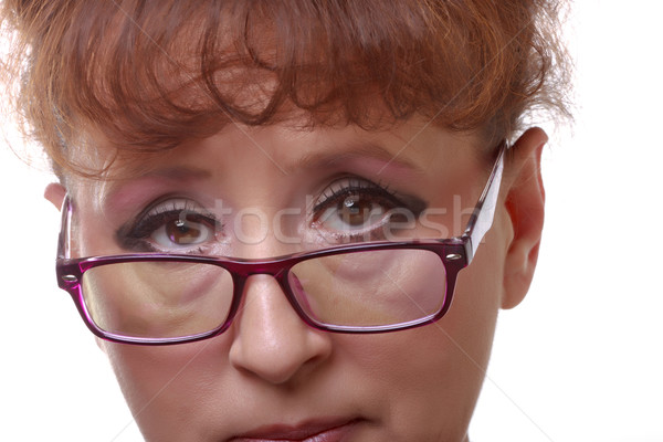 女性 眼鏡 写真 白 ファッション 頭 ストックフォト © Discovod