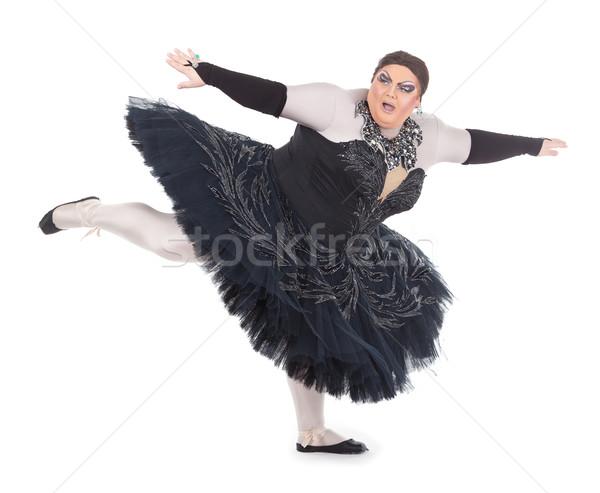 Koningin dansen te zwaar balancing tenen voet Stockfoto © Discovod