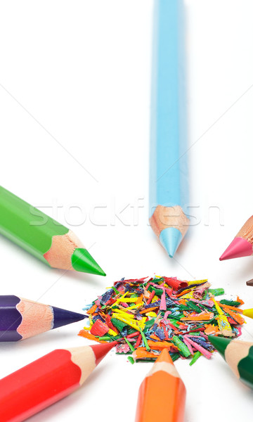 set of colored pencils Stock photo © Discovod