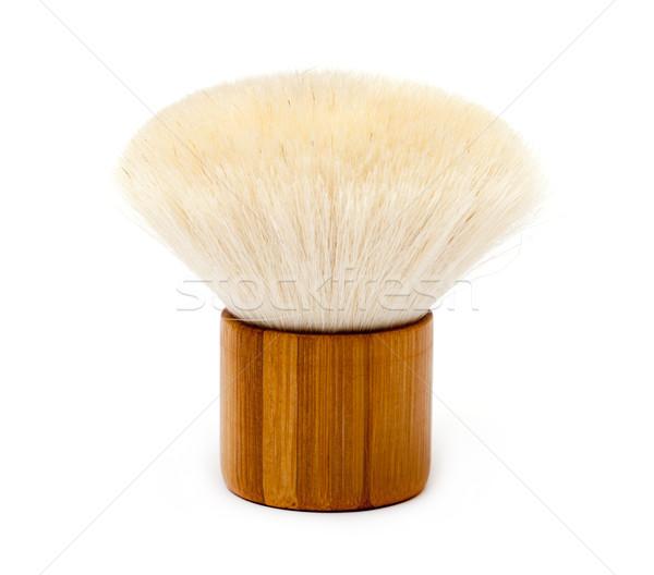 Pó escove branco cara fundo bambu Foto stock © Discovod