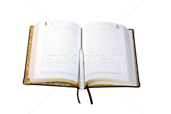 Günlük kalem kitap çalışmak takvim okuma Stok fotoğraf © Discovod